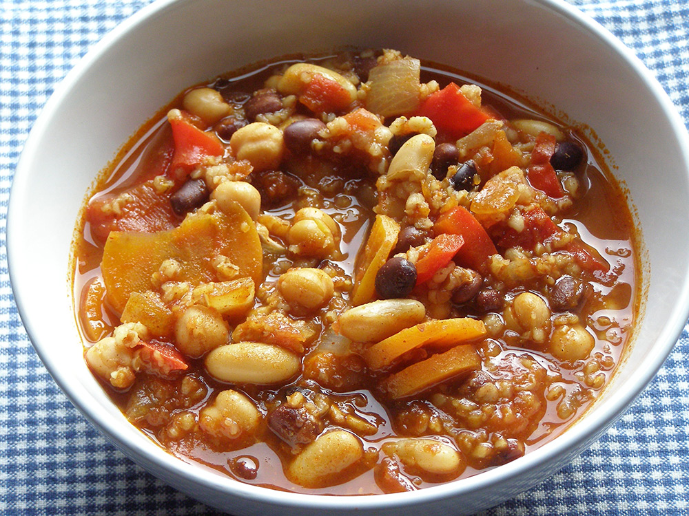 Vegetarian Three-Bean Chipotle Chili