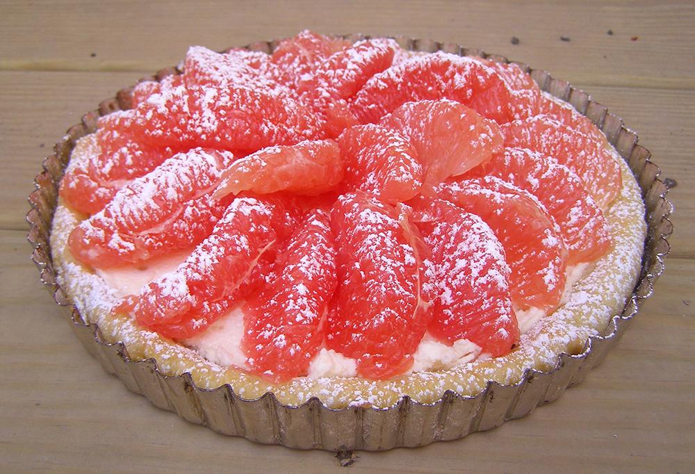 Grapefruit Tart with Homemade Mascarpone