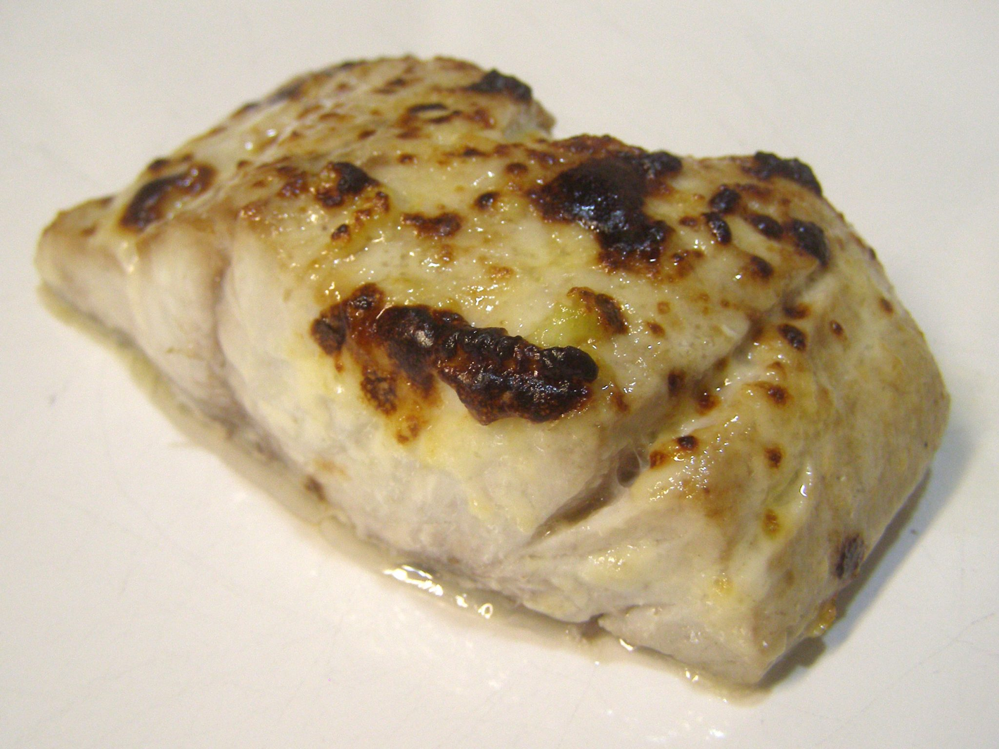 Broiled Bluefish Fillet with Lemon-Garlic Mayonnaise