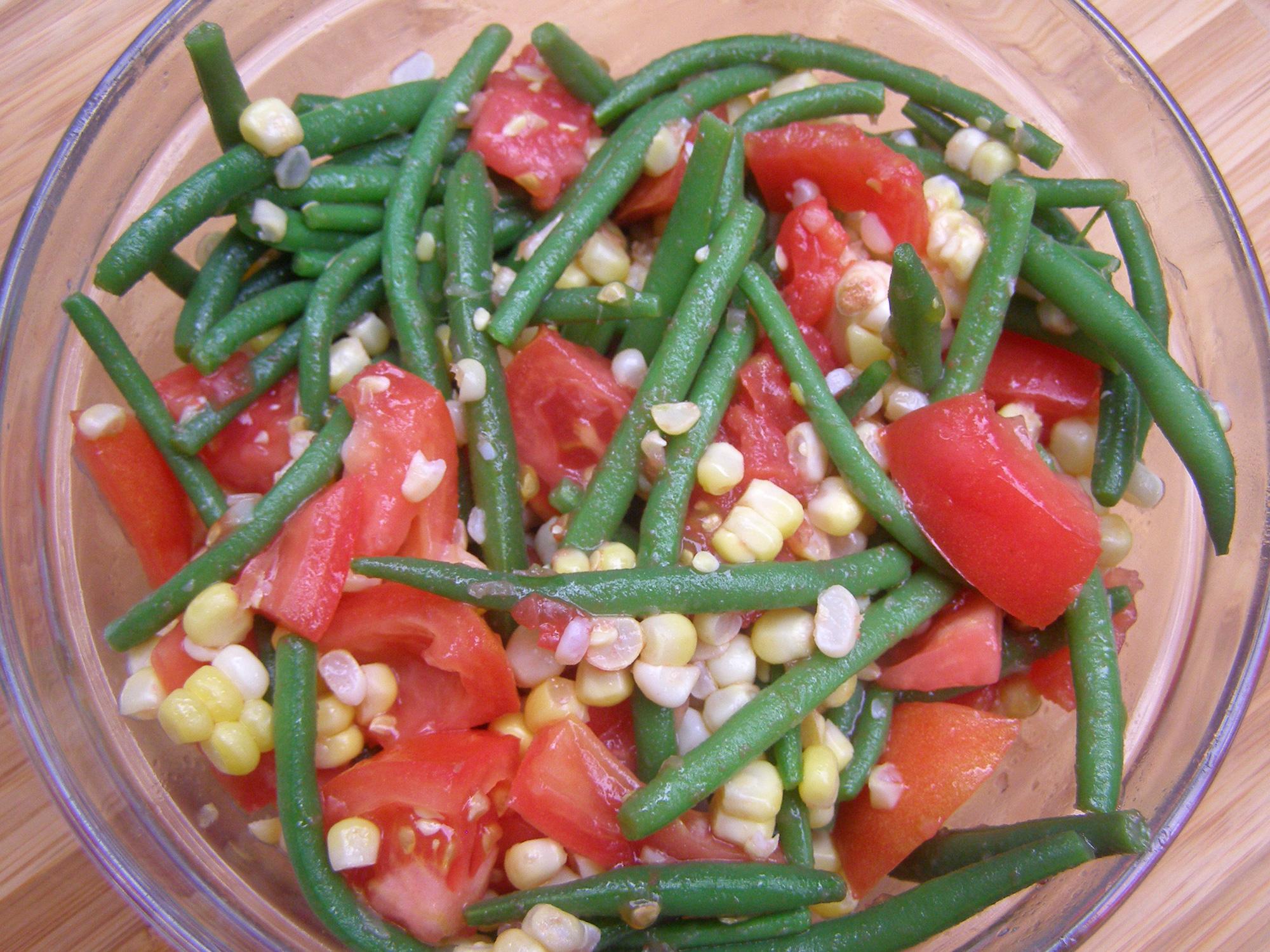 Tomato, Corn and Green Bean Salad