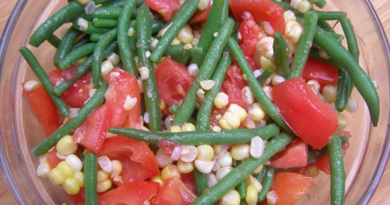 Tomato, Corn and Green Bean Salad