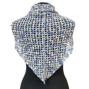 Chusta niebiesko – beżowy melanż CHNM006