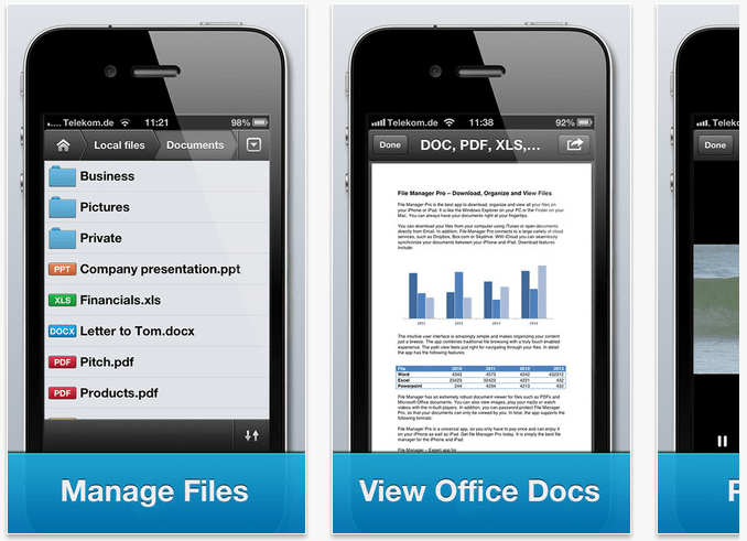 File Manager iPhone