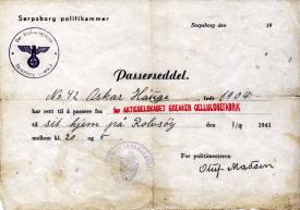 Under krigen 1940-45 var broa bevoktet og tidvis stengt. Oskar Hauge måtte ha passerseddel for å kunne gå til sitt arbeid på Greåker om natten.