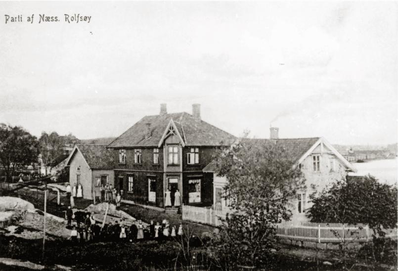 Henriksens landhandel i Elvenesveien 10, tidlig 1900-tallet