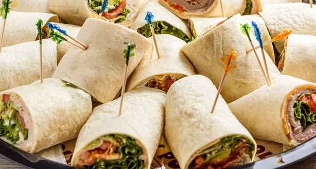 Roly Poly Rolled Sandwiches Soups Salads Wrap Your