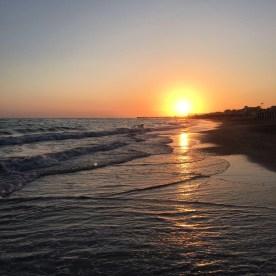 Sonnenuntergang am Lido di Ostia