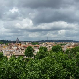 Panoramablick vom Orangengarten auf dem Aventin