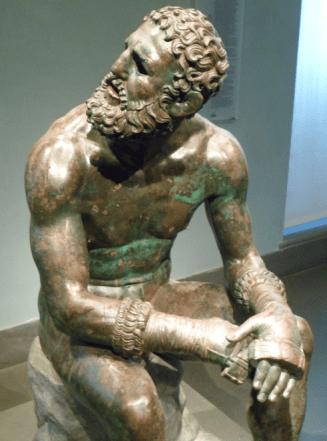 Statue en bronze du pugiliste au repos conservée au Palazzo Massimo © Roma Aeterna