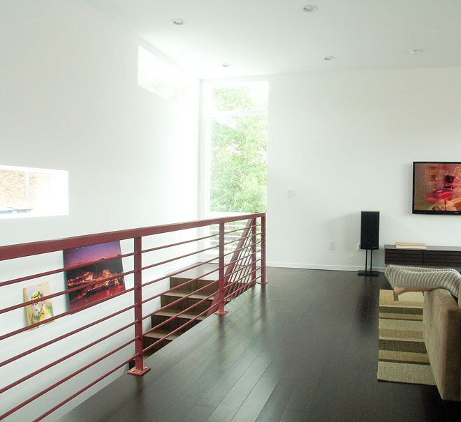 Walls throughout the home were painted with ROMA Biodomus Matte Paint.