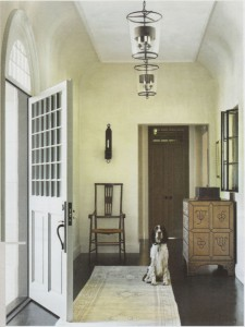 Foyer painted in ROMA's limewash.