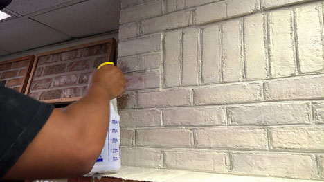 How To Whitewash Your Brick Fireplace with Limewash Paint | ROMABIO