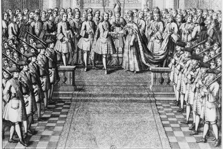 Ludwig-XV-Trauung-1725-Kupferstich-Louis-XV-roi-de-France-1715-1774