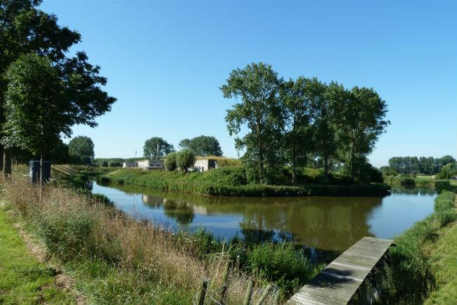 Batterij aan den Sloterdijk, aan de Geniedijk in Haarlemmermeer maakt in de toekomst deel uit van het Geniepark. Beeld Paul Veldhuis