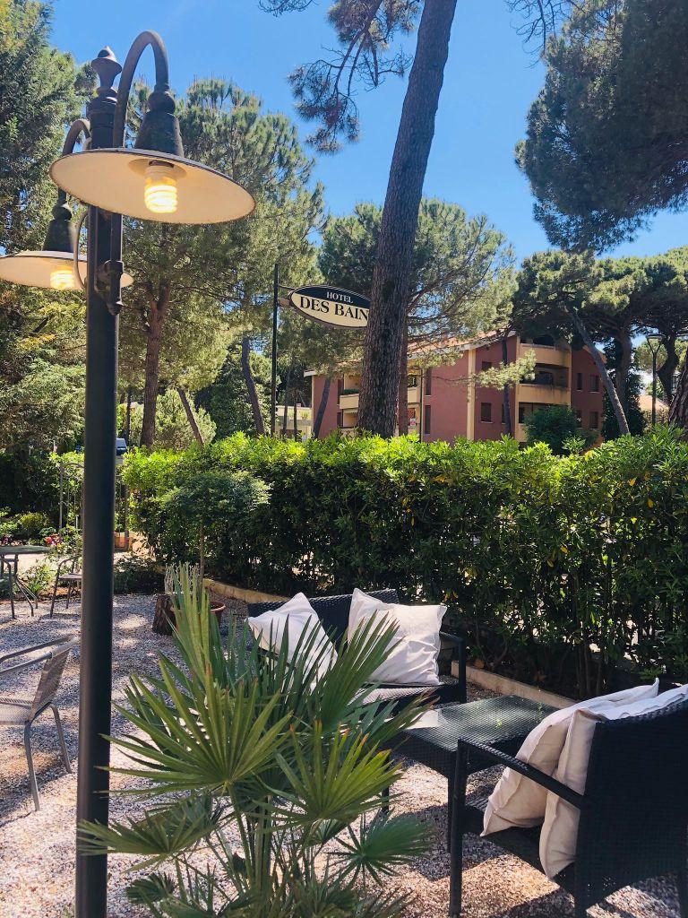 "alt=""giardino Hotel Des Bains Milano Marittima"""