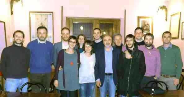 Il tavolo Giovani di Legacoop e la dirigenza di CAC con il presidente Giovanni Piersanti