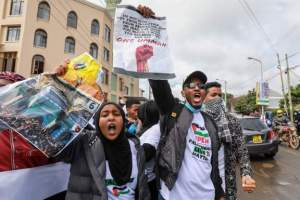 Kenya police fire tear gas at pro-Palestinian protest