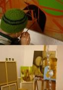 Studio - Bordeaux - Oil paintings.