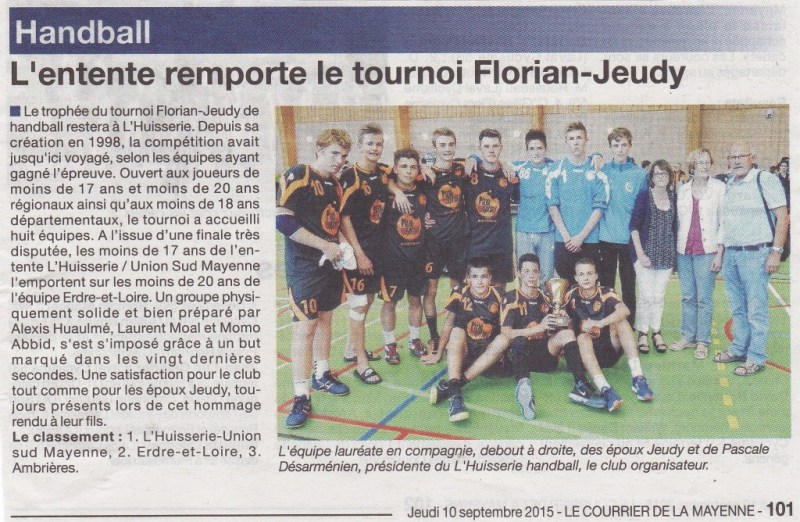 article courrier de la mayenne