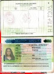 Fake U.S.A. Visa - Gifty Canapadu - Ghana Passport H1141307