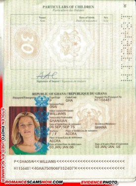 Williams Osai - Ghana Passport H1156481