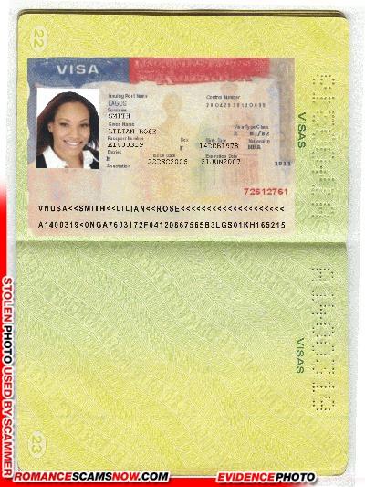 U.S.A. Visa - Lilian Rose Smith - Ghana Passport A1400319