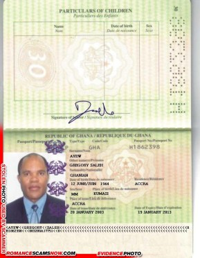 GREGORY SALEH AYEW - Ghana Passport H1862398