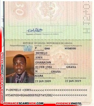 John Dumelo - Ghana Passport H1540100