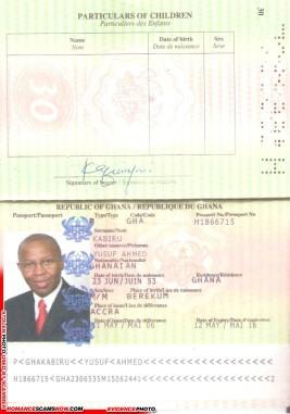 Yusuf Ahmed Kabiru - Ghana Passport H1866715