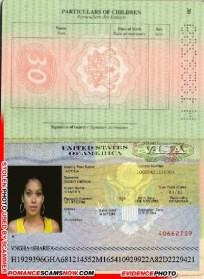 U.S.A. Visa - Sharifa - Ghana Passport H1853289