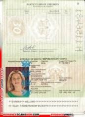 Forged Ghana Passport Williams Osa - Ghana Passport H1156481