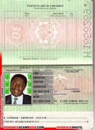 Scam Ghana Passport H1858289