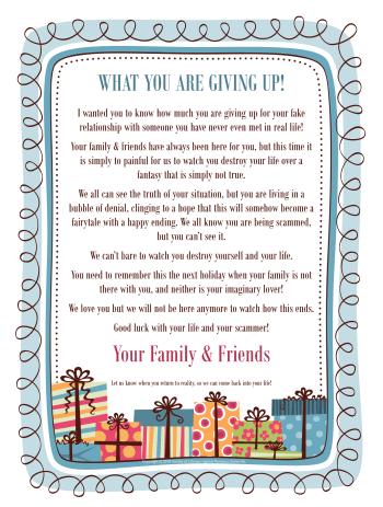 Family Member Intervention Letter - Copyright © 2018 SCARS