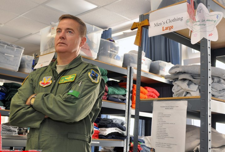 Maj. Gen. Michael Dubie, the adjutant general of the Vermont National Guard, stands in the Wounded Warrior Ministry Center -- nicknamed the Chaplains' Closet -- at Landstuhl Regional Medical Center in Germany on June 17, 2009, during a visit to wounded warriors. (U.S. Army photo by Staff Sgt. Jim Greenhill) (Released)