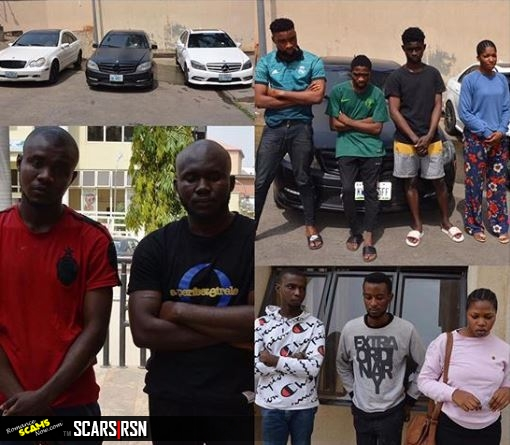 Suspected internet fraudsters arrested in Abuja by the EFCC