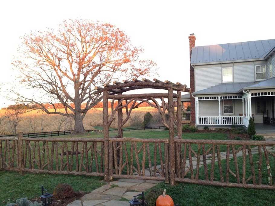 Rustic Garden Fencing Amp Gates Wooden Deck Amp Log Porch