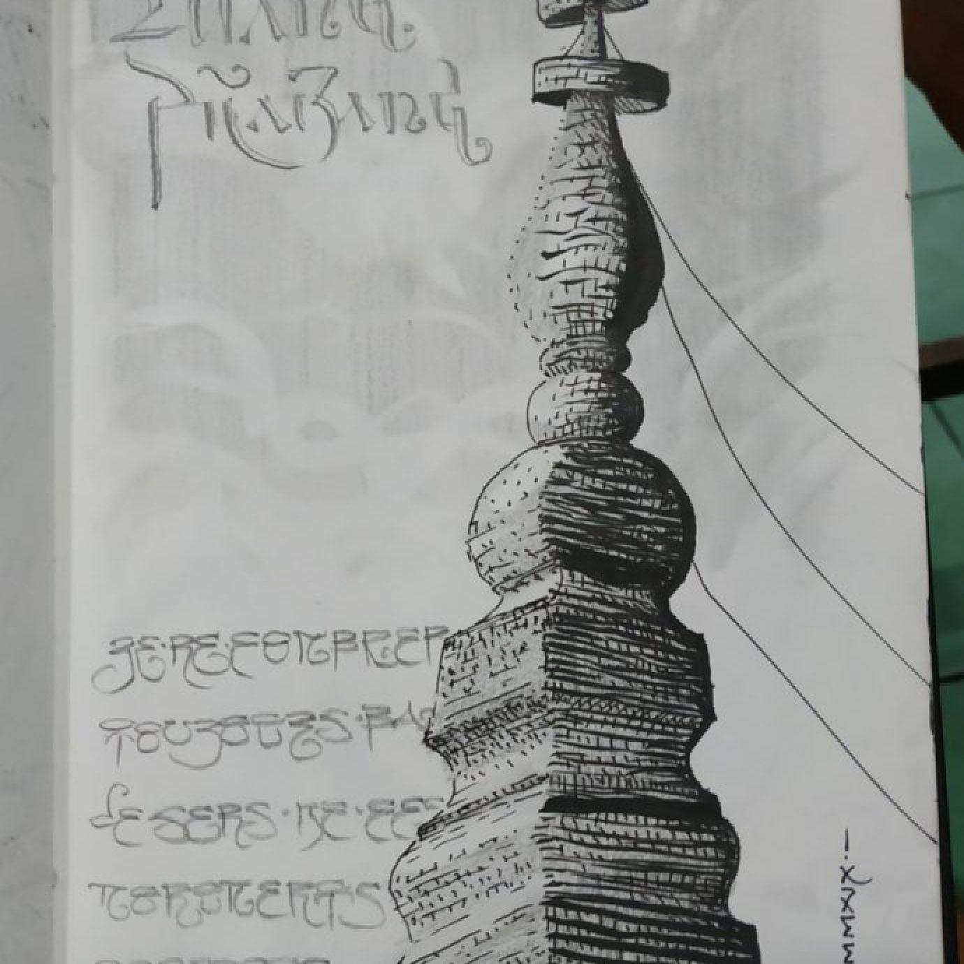 Les pagodes de Luang Prabang (dessin)