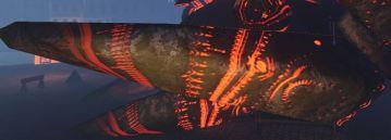 Closeup of the Ship