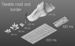 road_wireframe_assets