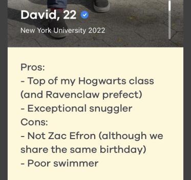 dating app bumble bio