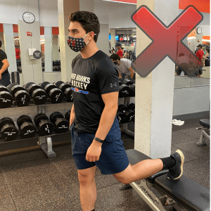 bulgarian split squat mistakes toes up