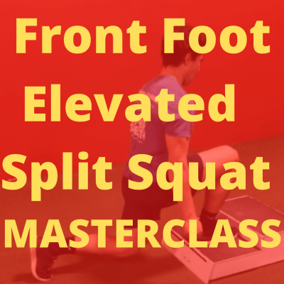 Front foot elevated split squat
