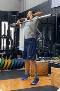 hang clean second pull