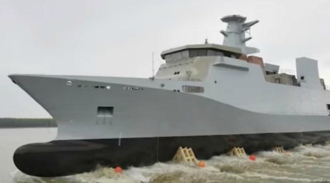 Prima corvetă construită de români a fost livrată Marinei din Pakistan. Prima navă de patrulare construită de muncitori români 1