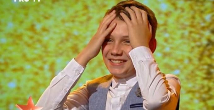 (Video) Al șaselea Golden Buzz la Românii au Talent. Cine este Mihai Țigaret, în vârstă de numai 13 ani care a convins-o pe Andra 7