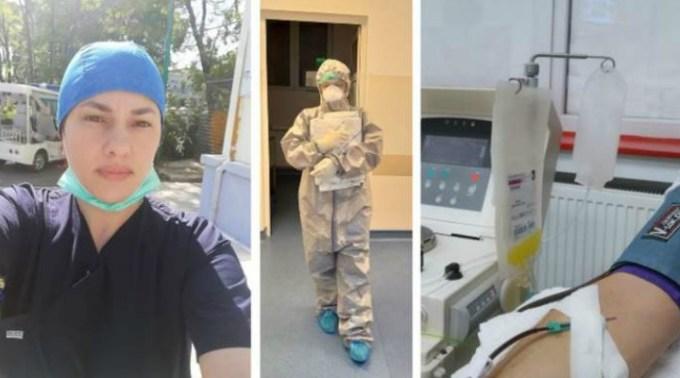 """Asistentă vindecată de coronavirus a donat plasmă hiperimună: """"Dacă poți face un bine, fă-l cu drag. Nu se știe niciodată la cine ajunge și poate o anumită persoană chiar are nevoie și poate fi salvată"""" 1"""