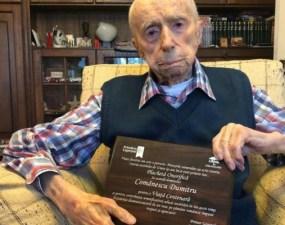 """Cel mai în vârstă bărbat din lume este un român. Dumitru Comănescu: Mă simt onorat și binecuvântat să fiu acum, oficial, cel mai vârstnic bărbat din lume și să reprezint România la cel mai inalt nivel! Este incredibil!"""" 3"""