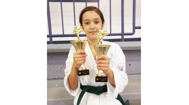 FELICITĂRI! Micuta karateka româncă, Flavia-Maria Goga, din Montreal, din nou pe podium