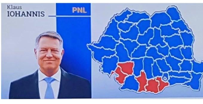 Victorie Iohannis. Doar 5 județe din România mai sunt roșii. Bine ați venit lângă Transilvania, Moldova si Muntenia 6
