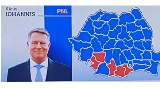Victorie Iohannis. Doar 5 județe din România mai sunt roșii. Bine ați venit lângă Transilvania, Moldova si Muntenia 1